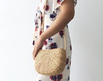 Best Seller!! Watermelon Straw Bag Cross Body Bag  / straw handbag / Summer Hand bag / straw tote / straw purse Shoulder Bag / wicker bag