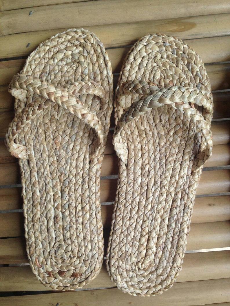 Strappy Wedding Raffia SlippersHotel SandalsBeach BagsSandalsStraw Summer Welcome ShoesGreek 6Yfy7Ibgv