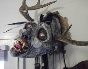 Mounted Wendigo Head