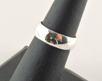 Size 6 Sterling Silver Wide Band Ring
