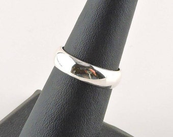 Size 6 Sterling Silver 5mm Wide Band Ring