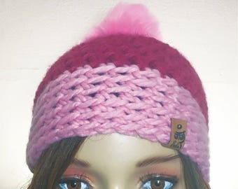 CP Winter Hat, Crochet Hat, Handmade Beanie, Pompom