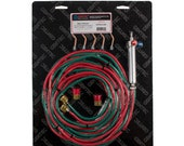 Gentec Small Torch Kit Oxy-Acetylene Propane Mapp Fuel- 5 Tips-12 Foot Hose - 14-506
