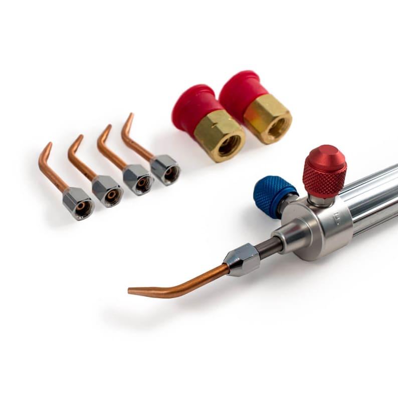 Gentec Small Torch Kit Oxy-Acetylene/Propane/Mapp Fuel- 5 Tips-12 Foot Hose  - 14-506