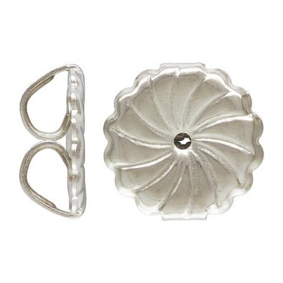 10 Sterling Silver Earring Backs