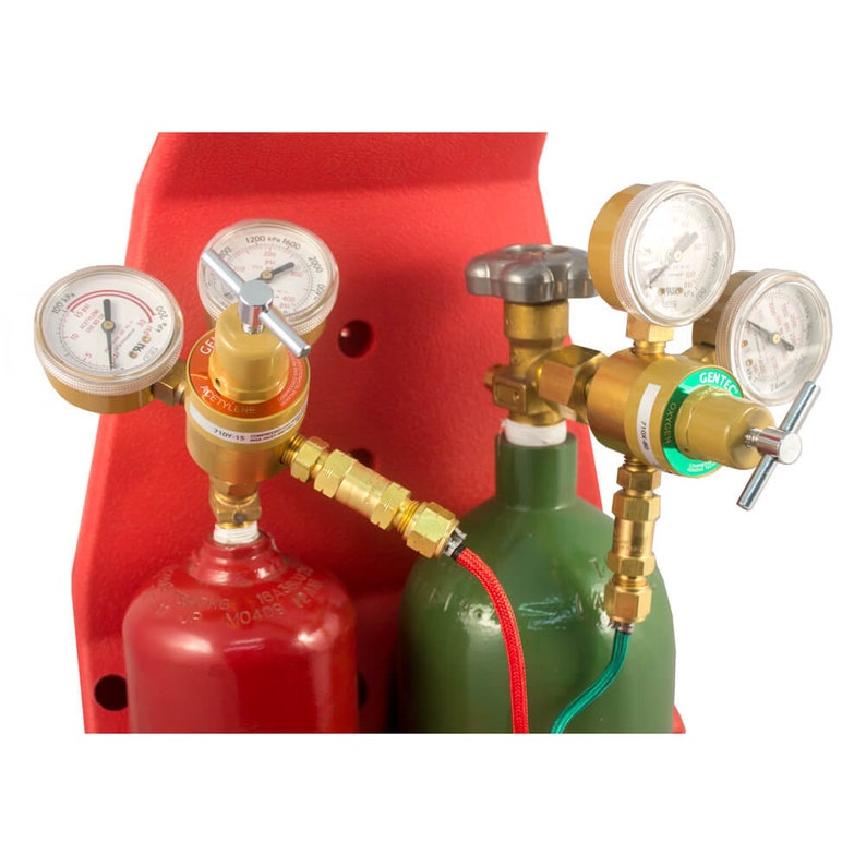 Gentec Caddy Small Torch Kit Oxy/Acetylene w/tip#2-6 Regulators,Cylinders  and Carrier - 14-514