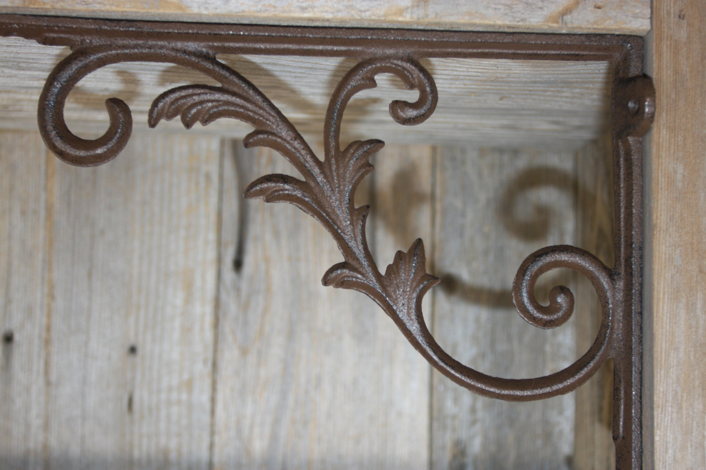 12 Flower Shelf Brace Shelf Bracket Corbel Cast Iron Rustic Garden FREE SHIPPING