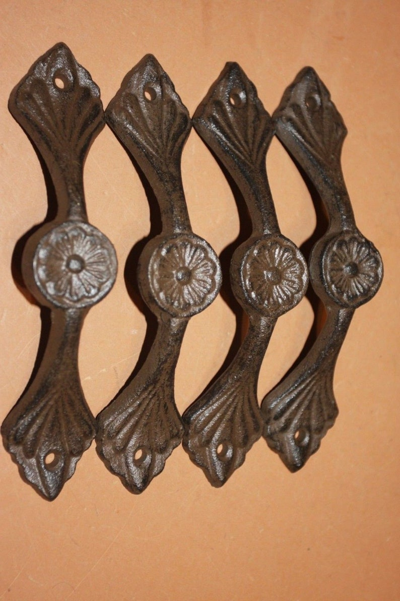 HW-29 French Country Cabinet Pulls Cast Iron 7 inches