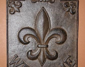 14 % OFF 2, Fleur De Lis Welcome Signs, Louisiana Welcome Sign, Saints