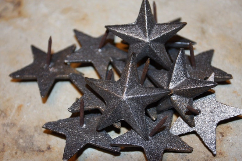Lone Star Door Hardware Volume Priced Large Rustic Cast Iron Star Nails 3 12 inch