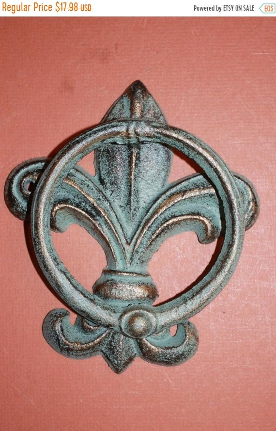 14 % OFF 1pc Bronze Look Fleur De Lis Door Knocker FREE | Etsy