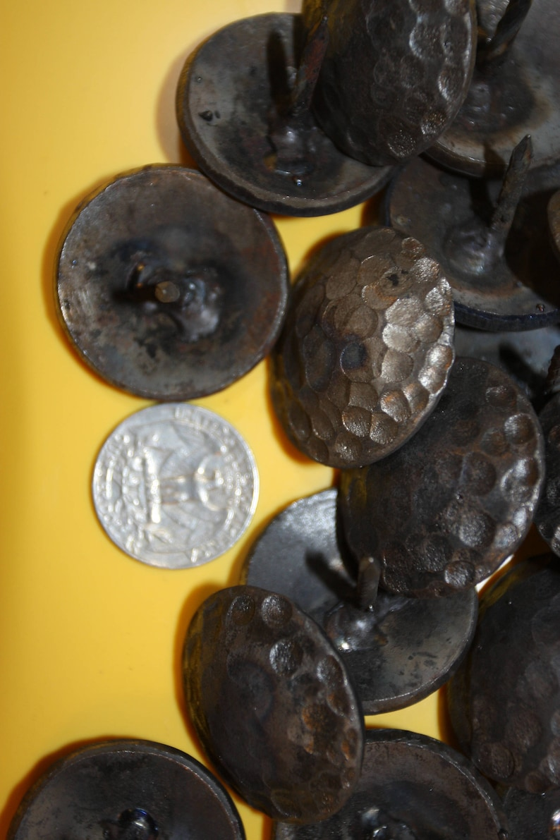One Inch Hammered Round Head Clavos Set of 20 Clavos CL-1 Rustic Mexican Spanish Mission Restoration Hardware Nail Heads 20
