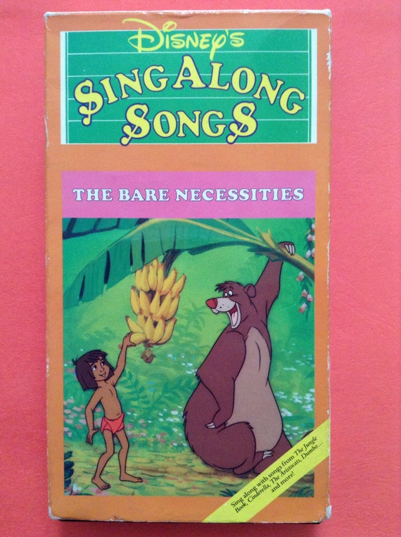 The Bare Necessities Disney S Sing Along Songs Vhs From Etsy