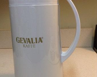 White Gevalia  Kaffe   Carafe  Decanter