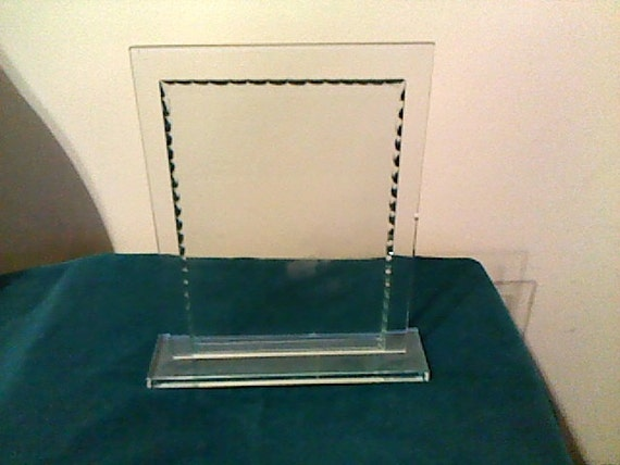 Clear Glass 2 Sided Picture Frame Document Or Memoir Holder Etsy