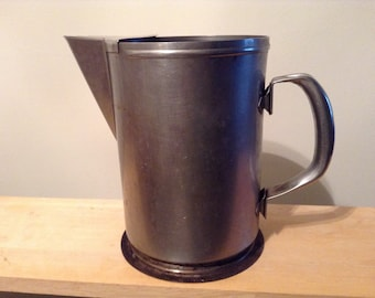 Pitchers Galvanized Stainless Steel Watering Pitchers Capco Vintage Stainless Steel Water Pitchers Arts & Craft Gardening or Floral Decor