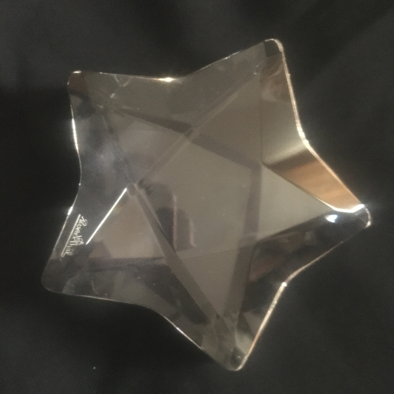 Paperweights Crystal Clear Star Shaped Rosenthal Paper Weight