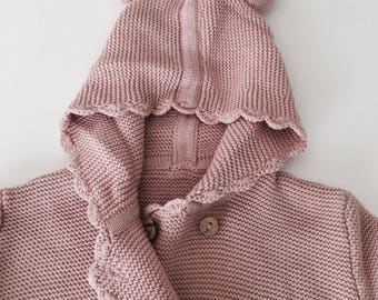 Chaconia Dolls Pink Baby knitted sweater