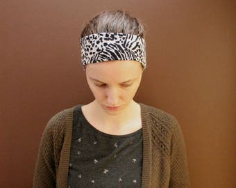 Stretchy Animal Print Head Covering