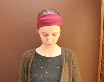Stretchy Cranberry-coloured Headcovering