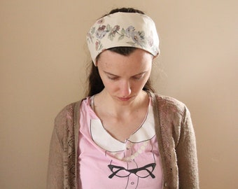 Pastel Floral Cotton Headcovering