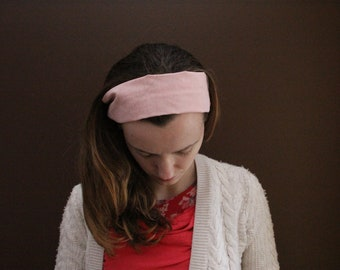 Pink and White Striped Headcovering