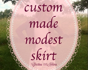 Custom Sized Modest Skirt