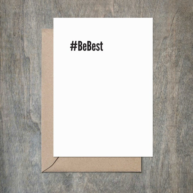 Be Best Funny Thank You Card Funny Congratulations Card Friend