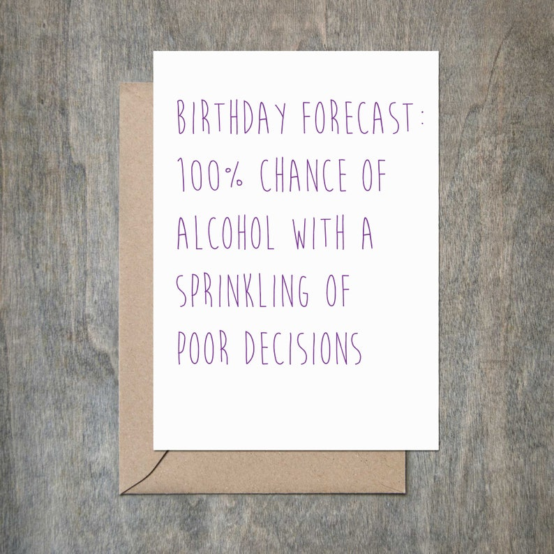 Birthday Forecast Funny Card