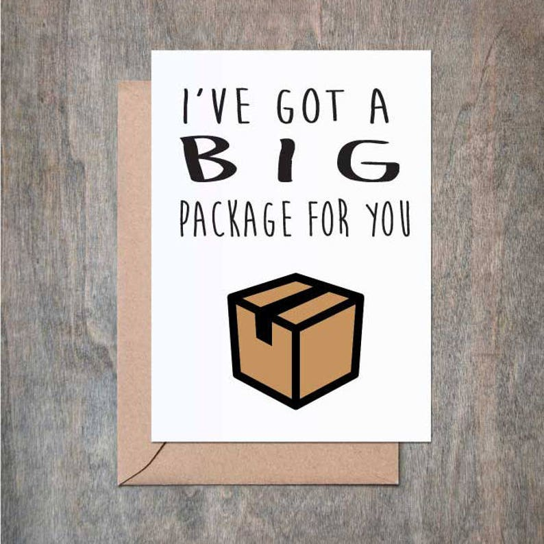 Big Package Card Funny Love Birthday