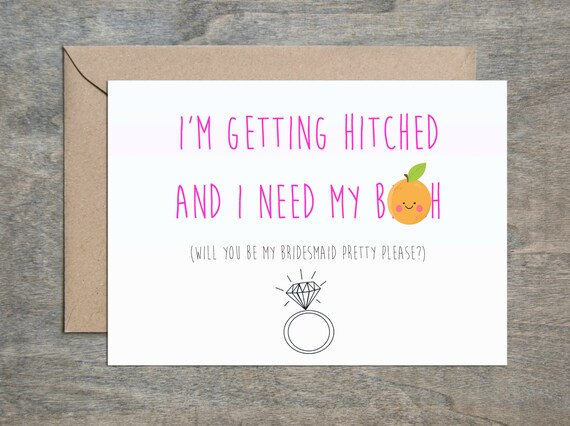 Bridesmaid Getting Be Will My Hitched You Etsy Need Bh And Card qCO8rq