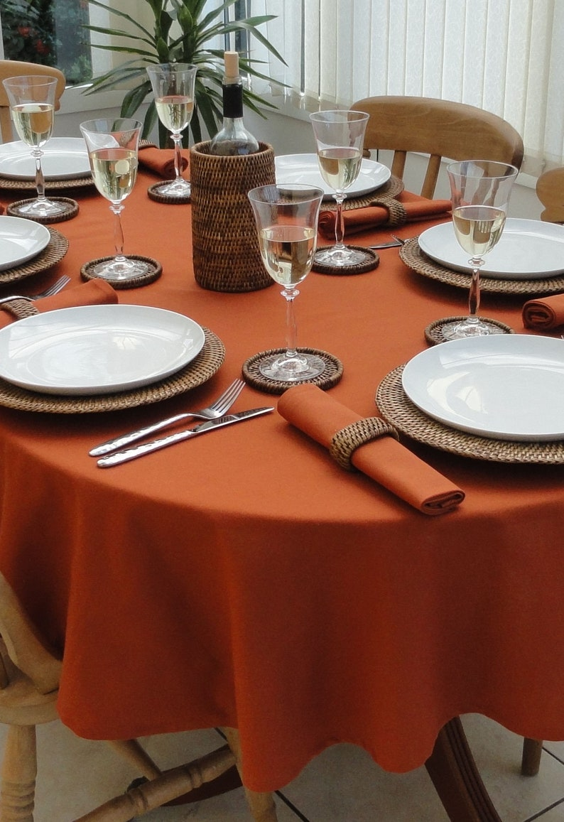 Fall Tablecloths Thanksgiving Oval Tablecloths All Sizes ...