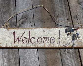 Barn Wood Welcome Sign