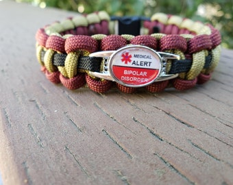 Hate Being Bipolar Glass Cabochon Bracelet Braided Leather Strap Bracelets