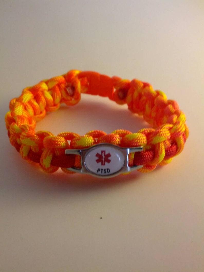 PTSD  Paracord Medical Alert Bracelet