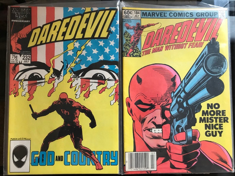 Vintage Daredevil 1964 Marvel Comic Book Lot 184 & 232 FN/VF+ Awesome Covers