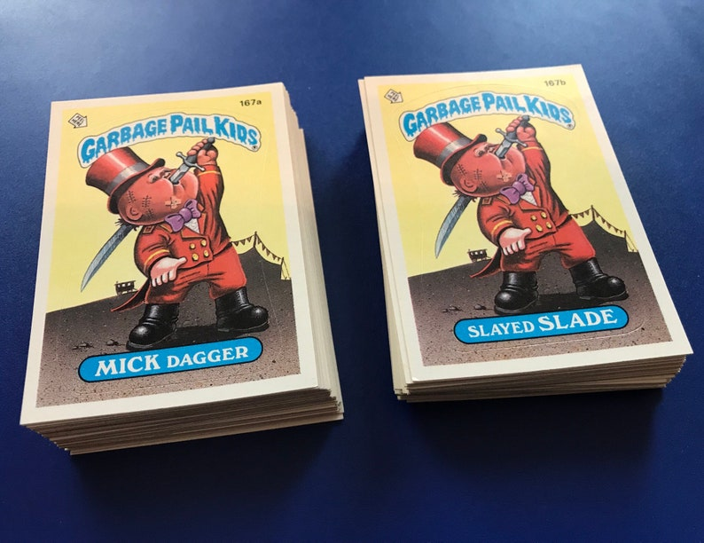 Vintage 1986 TOPPS Original Garbage Pail Kids Cards GPK Complete Set 5 OS5 A/&B 80 cards