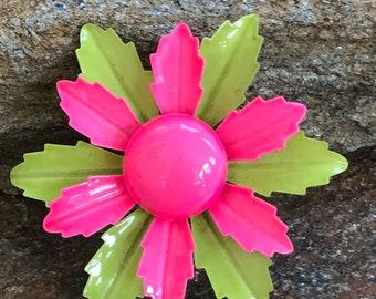 Neon Flower Brooch Coloful Flower Pin