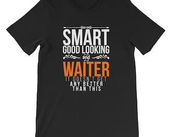 Smart good looking and waiter short sleeve T-shirt
