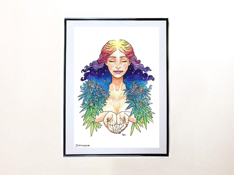 Mary Jane Art Print Painting Fantasy Wall Hanging Original Etsy
