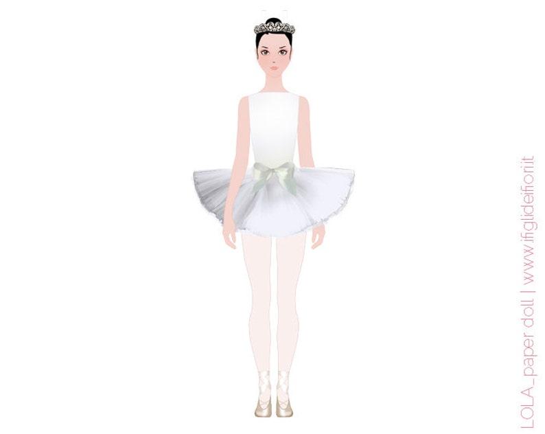 09e34d7b951f Lola ballerina classica vestiti di carta per Lola la bambola
