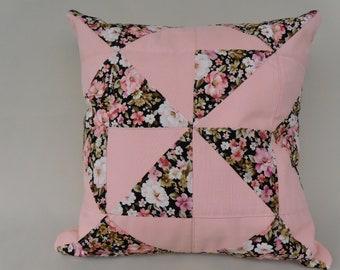 Pillow Cover , rose Pinweehl pillow cover , Quilt pillow
