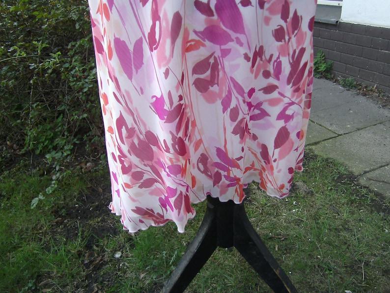 pink white Skirt pink white Summer skirt plus size clothing Size L Viscose Skirt ligth Skirt Midi skirt handmade Skirt