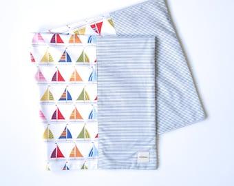 Miminko Diaper Bag Blanket: Sailboats