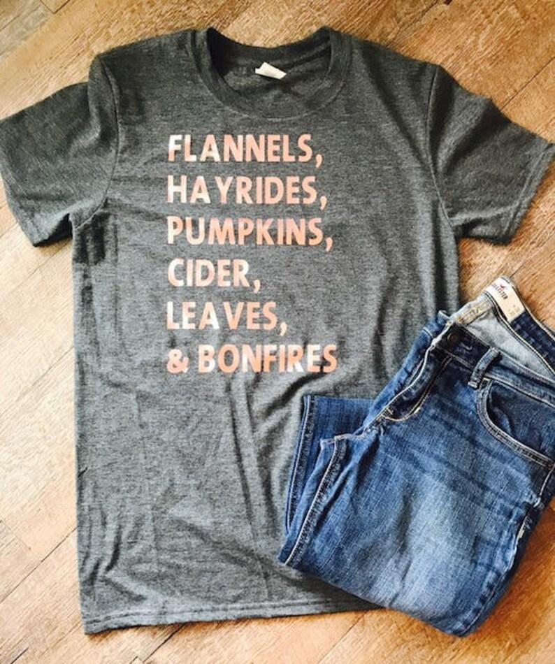 a539a2919 Flannels Hayrides Pumpkins Cider Leaves & Bonfires | Etsy