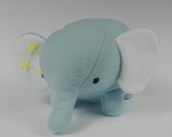 Elephant, Blue elephant, Stuffed animal elephant, Elephant plushie, Plush elephant, Elephant stuffed animal, Stuffed animal