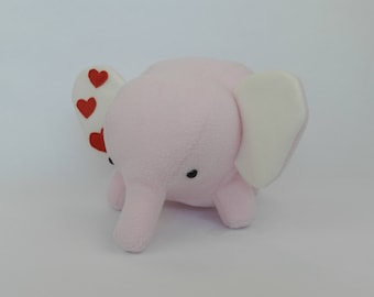 Elephant, Pink elephant, Stuffed animal elephant, Elephant Plushie, Elephant Stuffed Toy, Elephant Plush, Stuffed animal, Pink stuffed toy
