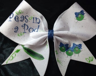 Peas in a pod Hair Bow