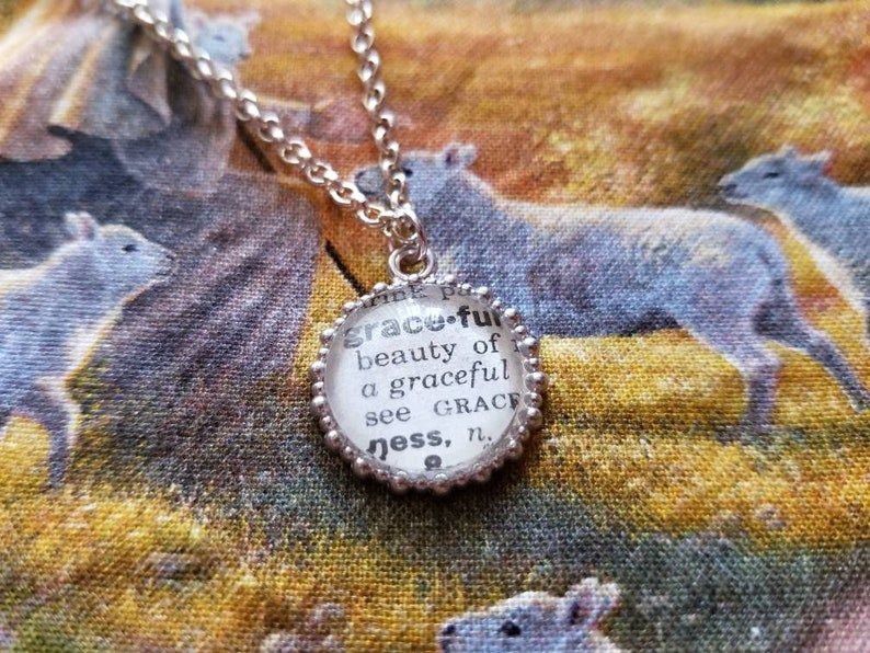 Friendship. Bridesmaid Graceful Engagement Graduation Book Club Teacher Vintage Dictionary Book Page Silver Bracelet Birthday