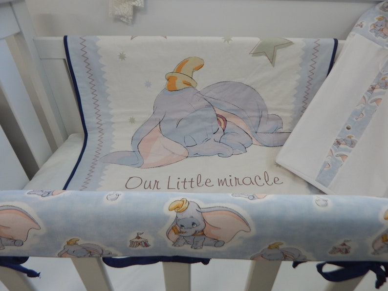 Cot Bed set nappy stacker,cushion,Fleece Blanket Peter Rabbit Nursery Package